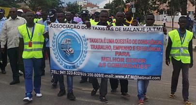 Membros da associação dos taxistas participaram do acto