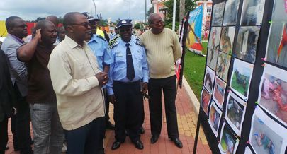 Exposição fotográfica esteve presente durante a homenagem