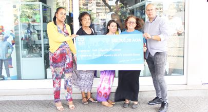 O acto de solidariedade teve como meta ajudar o Instituto Nacional de Luta Contra a Sida