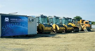 Com o apoio do Plano Operacional da Linha de Crédito da China foram adquiridos novos equipamentos que estão a contribuir para a construção e reabilitação das vias