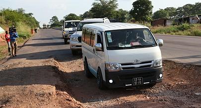 Um pavimento mais espesso vai ajudar a melhorar a circulação rodoviária na região