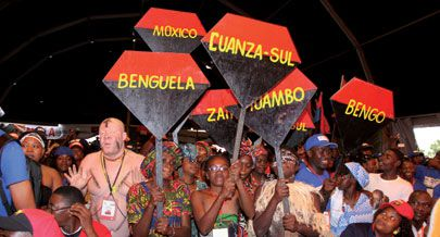 O primeiro dia das actividades dos participantes ao 15º CANFEU contou com a presença  do vice-presidente do MPLA João Lourenço