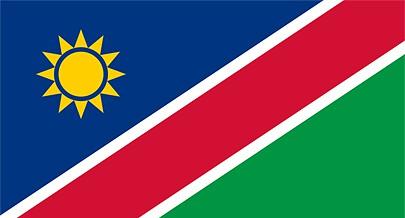 A Bandeira Nacional da Namíbia simboliza a luta heróica do povo namibiano pela unidade