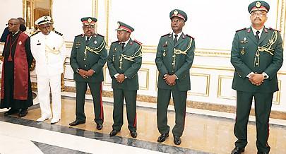 Chefias militares tomaram posse ontem no Palácio Presidencial da Cidade Alta numa cerimónia orientada pelo Presidente da República