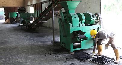 Equipamento ulitizado na produção de carvão ecológico é material de alta qualidade