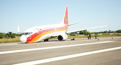 Aeronave da companhia de bandeira acidentada na pista do aeroporto do Soyo
