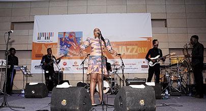 Katiliana foi uma das vozes presentes no concerto alusivo ao Dia do Jazz