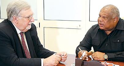 Victor Ramalho manteve um encontro com o Governador de Luanda