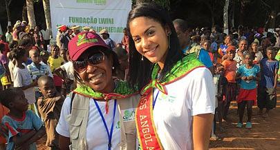 Miss Angola foi à cidade de Ndalatando