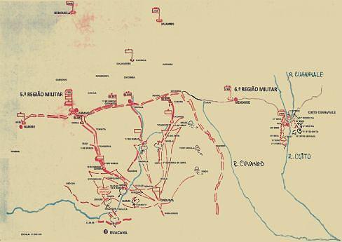 O movimento de forças  na Batalha  de Tchipa-Calueque de 26 e 27 de Junho de 1988  deu a vitória  à coligação  FAPLA-FAR-PLAN