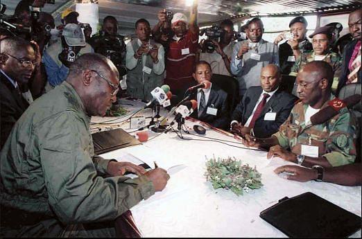 Em Chicamba II, os chefes militares assinaram o Acordo de Cessar-Fogo entre as FAA e Forças Militares da FLEC
