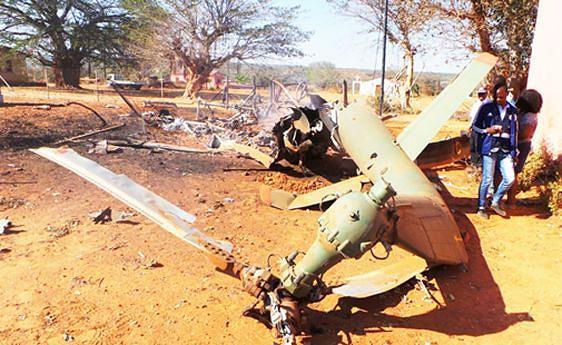 A aeronave ao serviço da CNE ficou totalmente destruída