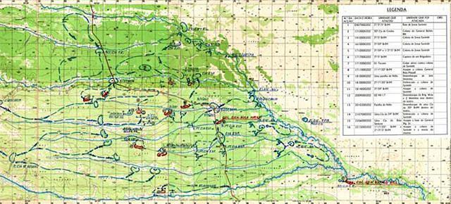 """Mapa da """"Operação Kissonde"""", a fase derradeira de perseguição do chefe de rebelião em  Angola, cuja morte a 22 de Fevereiro de 2002 abriu caminho para o fim da guerra fratricida"""