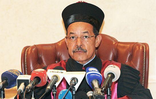 Juiz presidente do Tribunal Constitucional, Rui Ferreira, quando lia a declaração de validação das eleições