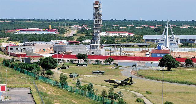 Complexo aonde está hoje instalado o Memorial da vitória na Batalha do Cuito Cuanavale