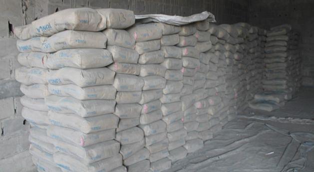 O preço  do cimento  e de outros materiais de construção  é muito alto