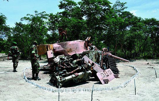 Peças do material bélico que foi utilizado na batalha estão expostas na localidade