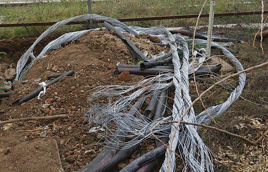 Roubo de cabos eléctricos envolve muitos estrangeiros