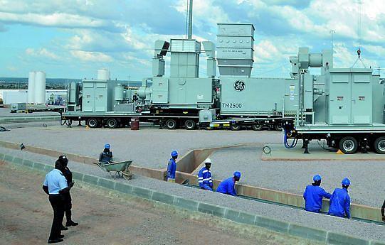 Central termoeléctrica tem uma execução na ordem dos 95 por cento e já tem instalada duas turbinas que funcionam simultaneamente com gás e gasóleo