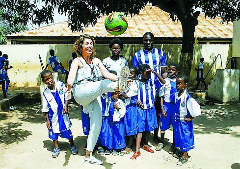 A enfermeira considera que a viagem à Guiné foi uma reviravolta na sua vida o que lhe tem dado muita alegria