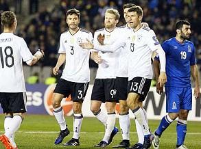Grupo C: Alemanha vence (4-1) no Azerbaijão