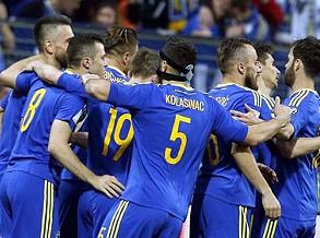 Grupo H: Bósnia-Herzegovina goleia (5-0) Gibraltar