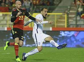 Grupo H: Grécia empata na Bélgica (1-1) com golo de Mitroglou