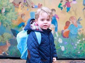 Príncipe George quebra tradição da família real