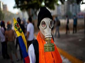 Venezuela proíbe importações de máscaras de gás, coletes à prova de balas