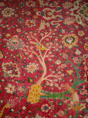 Carpet with trees and animals
