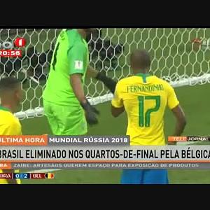 Brasil eliminado nos quartos-de-final pela Bélgica