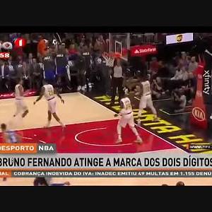 Bruno Fernando atinge a marca dos dois dígitos na NBA