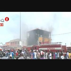 Incêndio destrói edifício em Benguela