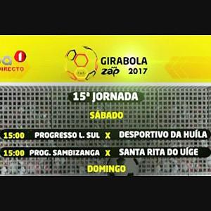 Classificação do GIRABOLA 2017 na entrada da 15ª Jornada