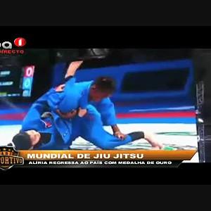"""Aliria regressa ao país com medalha de ouro """"Mundial de Jiu Jitsu"""""""