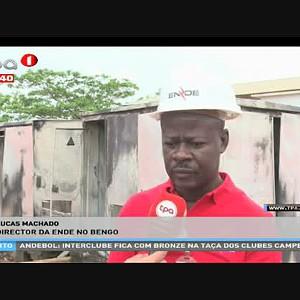 Incêndio, destrói 2 postos de transformação de energia na centralidade do Capari, Bengo