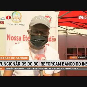 Doação de sangue - Funcionários do BCI reforçam banco do INS