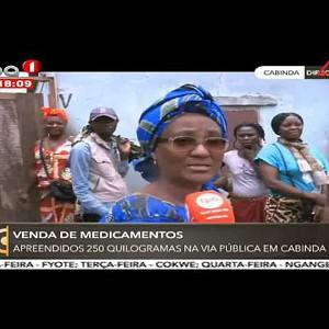 Vendas de Medicamentos - Apreendidos 250 quilogramas na via pública em Cabinda