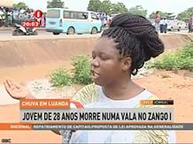 """""""Chuva em Luanda"""" Jovem de 28 anos morre numa vala"""
