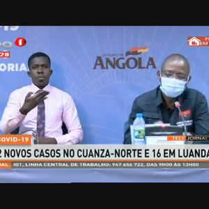 COVID-19: 2 Novos casos no Cuanza-Norte e 16 em Luanda