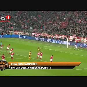Bayern goleia Arsenal por 5-1