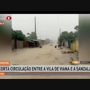 Chuva corta circulação entre a vila de Viana e Sanzala