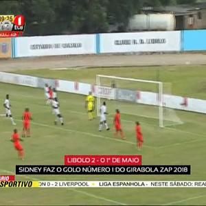 """Girabola 2018 """"Libolo (2 - 0) 1º de Maio"""""""