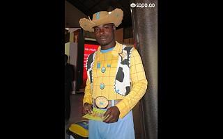 O Woody do Toy Story também esteve presente