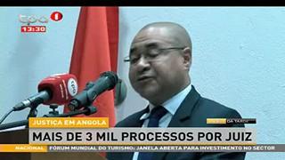 Justic?a em Angola - Mais de 3 mil processo por juiz