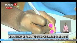 Alfabetizac?a?o no Cuanza-Norte - Desiste?ncia de facilitadores por falta de sub