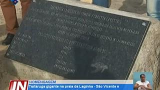 Tartaruga gigante, símbolo da preservação ambiental, inaugurada na praia da Lagi