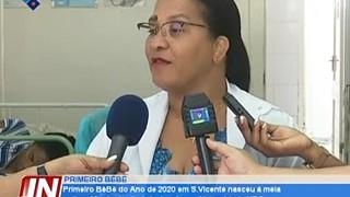 O Primeiro Bébé do Ano em S.Vicente nasceu á meia noite e 23 min do dia 1 de Jan