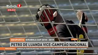 Girabola ZAP 2018-2019 - Petro de Luanda vice-campea?o nacional