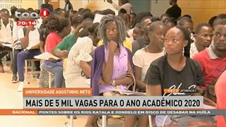 Universidade Agostinho Neto - Mais de 5 mil vagas para o ano acade?mico 2020